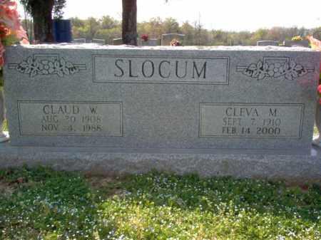 SLOCUM, CLAUD W - Cross County, Arkansas | CLAUD W SLOCUM - Arkansas Gravestone Photos