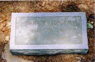 SLOCUM, SAM H. - Cross County, Arkansas   SAM H. SLOCUM - Arkansas Gravestone Photos