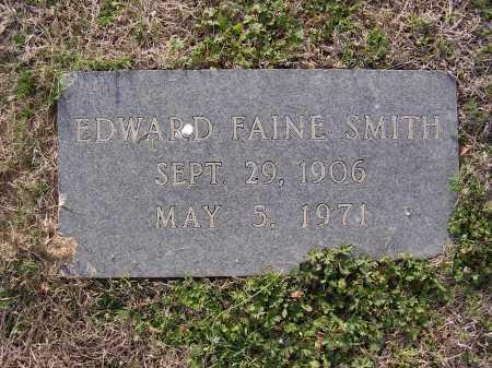 SMITH, EDWARD FAINE - Cross County, Arkansas   EDWARD FAINE SMITH - Arkansas Gravestone Photos