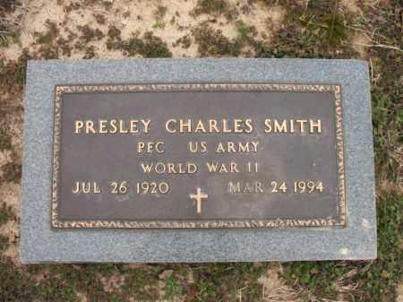 SMITH (VETERAN WWII), PRESLEY CHARLES - Cross County, Arkansas | PRESLEY CHARLES SMITH (VETERAN WWII) - Arkansas Gravestone Photos