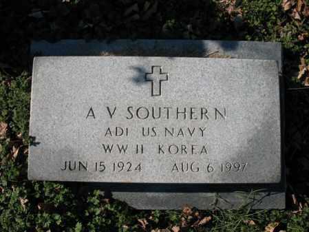 SOUTHERN (VETERAN 2 WARS), A V - Cross County, Arkansas | A V SOUTHERN (VETERAN 2 WARS) - Arkansas Gravestone Photos