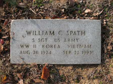 SPATH (VETERAN 3 WARS), WILLIAM C - Cross County, Arkansas   WILLIAM C SPATH (VETERAN 3 WARS) - Arkansas Gravestone Photos