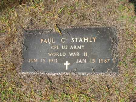 STAHLY (VETERAN WWII), PAUL C - Cross County, Arkansas | PAUL C STAHLY (VETERAN WWII) - Arkansas Gravestone Photos