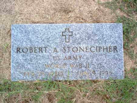 STONECIPHER (VETERAN WWII), ROBERT ADDISON - Cross County, Arkansas | ROBERT ADDISON STONECIPHER (VETERAN WWII) - Arkansas Gravestone Photos