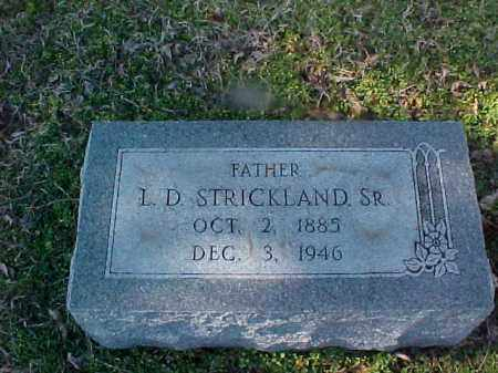 STRICKLAND, SR, L D - Cross County, Arkansas | L D STRICKLAND, SR - Arkansas Gravestone Photos