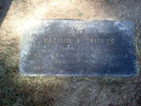 STUTTS  (VETERAN WWI), BENNIE F - Cross County, Arkansas   BENNIE F STUTTS  (VETERAN WWI) - Arkansas Gravestone Photos