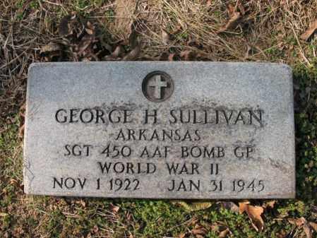 SULLIVAN (VETERAN WWII), GEORGE H - Cross County, Arkansas | GEORGE H SULLIVAN (VETERAN WWII) - Arkansas Gravestone Photos