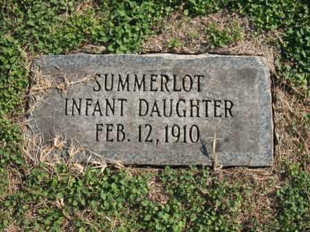 SUMMERLOT, DAUGHTER - Cross County, Arkansas   DAUGHTER SUMMERLOT - Arkansas Gravestone Photos