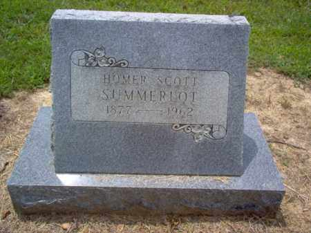 SUMMERLOT, HOMER SCOTT - Cross County, Arkansas | HOMER SCOTT SUMMERLOT - Arkansas Gravestone Photos