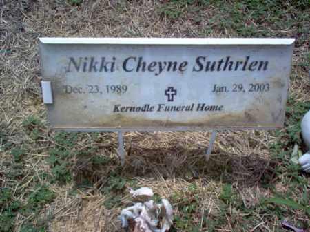 SUTHRLEN, NIKKI CHEYNE - Cross County, Arkansas   NIKKI CHEYNE SUTHRLEN - Arkansas Gravestone Photos