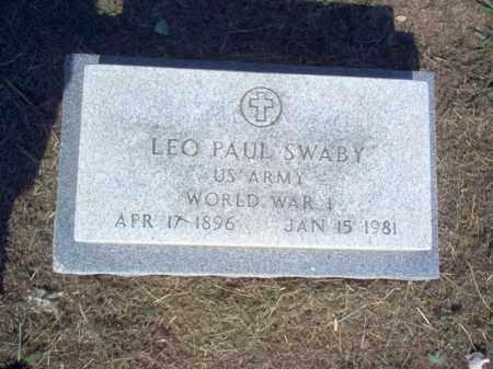 SWABY (VETERAN WWI), LEO PAUL - Cross County, Arkansas   LEO PAUL SWABY (VETERAN WWI) - Arkansas Gravestone Photos