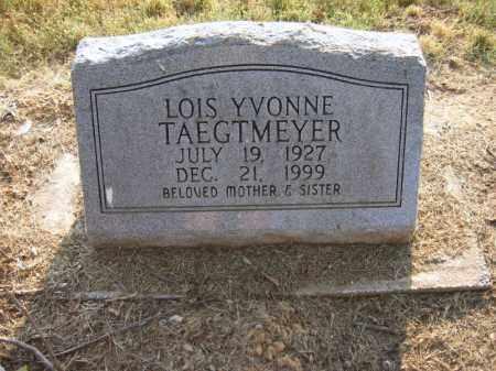 TAEGTMEYER, LOIS YVONNE - Cross County, Arkansas | LOIS YVONNE TAEGTMEYER - Arkansas Gravestone Photos