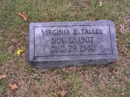 TALLEY, VIRGINIA E - Cross County, Arkansas | VIRGINIA E TALLEY - Arkansas Gravestone Photos