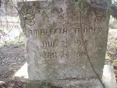 TANNER, AMALETTA - Cross County, Arkansas | AMALETTA TANNER - Arkansas Gravestone Photos