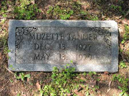 TANNER, MUZETTE - Cross County, Arkansas | MUZETTE TANNER - Arkansas Gravestone Photos