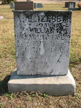 TAYLOR, A. ELIZABETH - Cross County, Arkansas | A. ELIZABETH TAYLOR - Arkansas Gravestone Photos