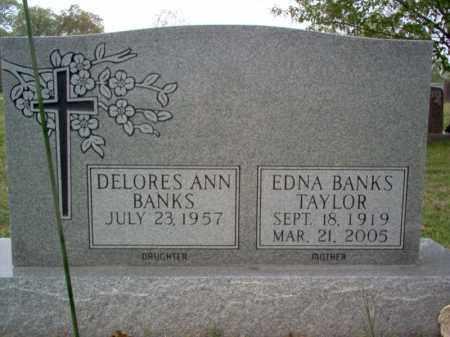 BANKS TAYLOR, EDNA EARL - Cross County, Arkansas   EDNA EARL BANKS TAYLOR - Arkansas Gravestone Photos