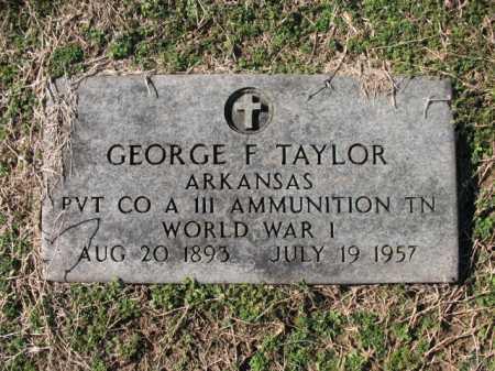 TAYLOR (VETERAN WWI), GEORGE F - Cross County, Arkansas | GEORGE F TAYLOR (VETERAN WWI) - Arkansas Gravestone Photos