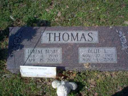 BUSBY THOMAS, LORENE - Cross County, Arkansas | LORENE BUSBY THOMAS - Arkansas Gravestone Photos