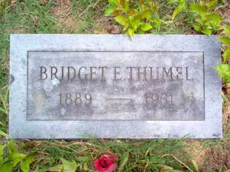 THUMEL, BRIDGET E - Cross County, Arkansas | BRIDGET E THUMEL - Arkansas Gravestone Photos