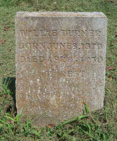 TURNER, WILLIE - Cross County, Arkansas | WILLIE TURNER - Arkansas Gravestone Photos