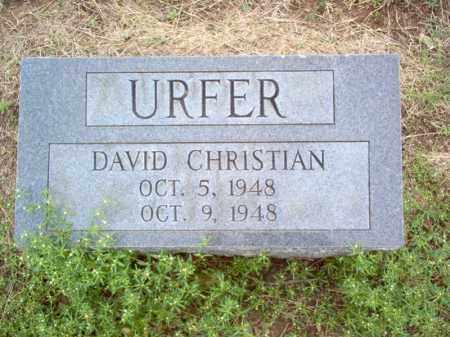 URFER, DAVID CHRISTIAN - Cross County, Arkansas | DAVID CHRISTIAN URFER - Arkansas Gravestone Photos