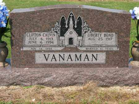 VANAMAN, CLIFTON CALVIN - Cross County, Arkansas   CLIFTON CALVIN VANAMAN - Arkansas Gravestone Photos