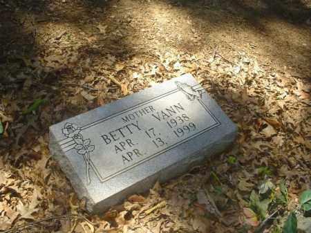 VANN, BETTY - Cross County, Arkansas   BETTY VANN - Arkansas Gravestone Photos