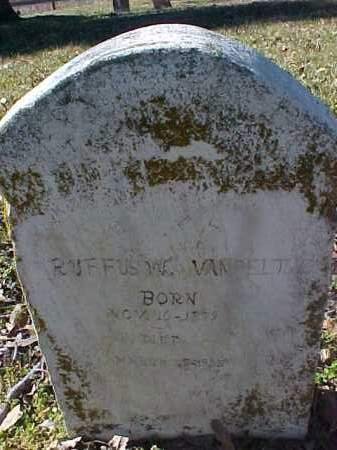 VANPELT, RUFFUS W - Cross County, Arkansas | RUFFUS W VANPELT - Arkansas Gravestone Photos