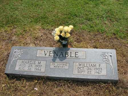 VENABLE, WILLIAM F - Cross County, Arkansas   WILLIAM F VENABLE - Arkansas Gravestone Photos