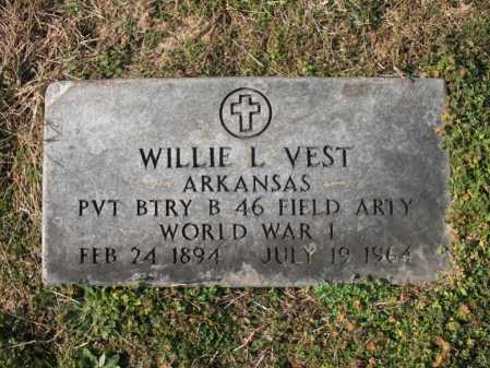 VEST  (VETERAN WWI), WILLIE L. - Cross County, Arkansas | WILLIE L. VEST  (VETERAN WWI) - Arkansas Gravestone Photos