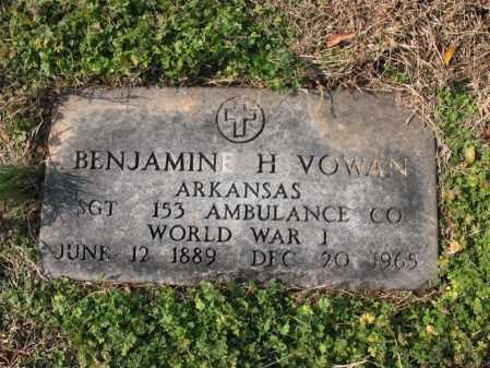 VOWAN (VETERAN WWI), BENJAMIN H - Cross County, Arkansas | BENJAMIN H VOWAN (VETERAN WWI) - Arkansas Gravestone Photos