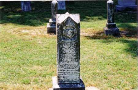 WALKER, MATTIE C. - Cross County, Arkansas | MATTIE C. WALKER - Arkansas Gravestone Photos