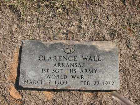 WALL (VETERAN WWII), CLARENCE - Cross County, Arkansas | CLARENCE WALL (VETERAN WWII) - Arkansas Gravestone Photos
