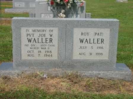 "WALLER, ROY ""PAT"" - Cross County, Arkansas | ROY ""PAT"" WALLER - Arkansas Gravestone Photos"