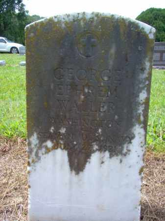 WALLER (VETERAN), GEORGE EPHREM - Cross County, Arkansas | GEORGE EPHREM WALLER (VETERAN) - Arkansas Gravestone Photos