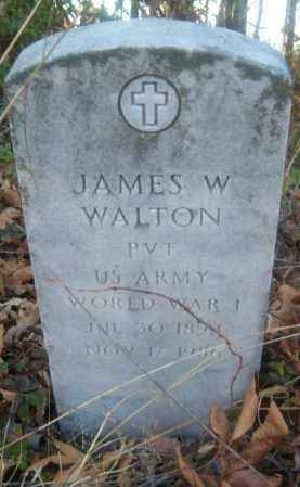 WALTON (VETERAN WWI), JAMES W - Cross County, Arkansas | JAMES W WALTON (VETERAN WWI) - Arkansas Gravestone Photos