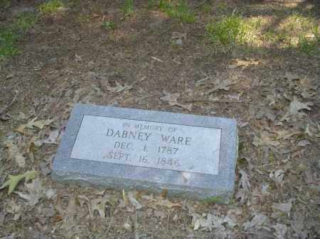 WARE, DABNEY - Cross County, Arkansas | DABNEY WARE - Arkansas Gravestone Photos