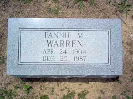 WARREN, FANNIE M - Cross County, Arkansas   FANNIE M WARREN - Arkansas Gravestone Photos
