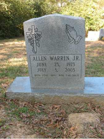 WARREN, JR., ALLEN - Cross County, Arkansas   ALLEN WARREN, JR. - Arkansas Gravestone Photos