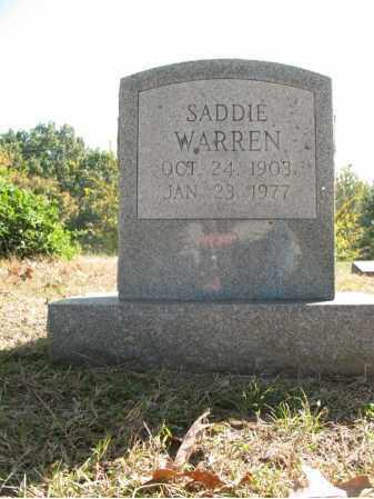 WARREN, SADDIE - Cross County, Arkansas   SADDIE WARREN - Arkansas Gravestone Photos
