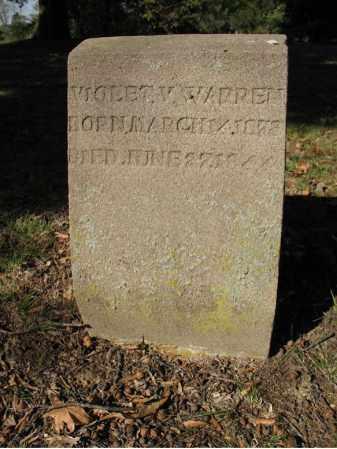 WARREN, VIOLET - Cross County, Arkansas | VIOLET WARREN - Arkansas Gravestone Photos