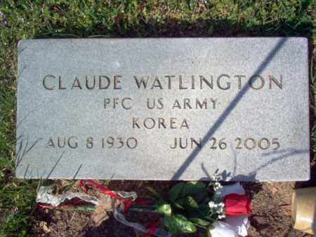 WATLINGTON (VETERAN KOR), CLAUDE - Cross County, Arkansas   CLAUDE WATLINGTON (VETERAN KOR) - Arkansas Gravestone Photos