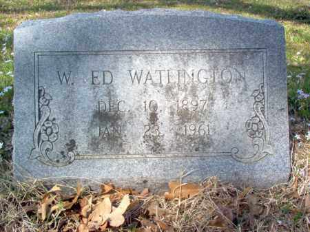 WATLINGTON, W ED - Cross County, Arkansas | W ED WATLINGTON - Arkansas Gravestone Photos