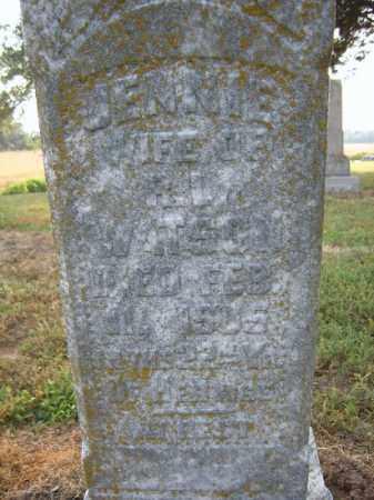 WATSON, JENNIE - Cross County, Arkansas | JENNIE WATSON - Arkansas Gravestone Photos