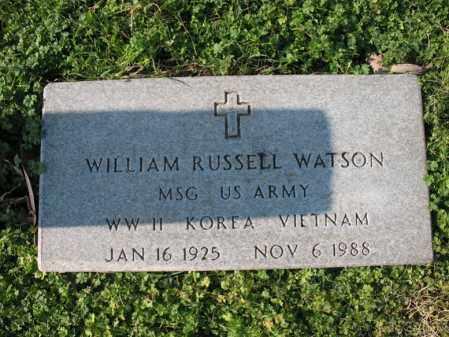 WATSON (VETERAN 3 WARS), WILLIAM RUSSELL - Cross County, Arkansas   WILLIAM RUSSELL WATSON (VETERAN 3 WARS) - Arkansas Gravestone Photos