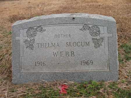 SLOCUM WEBB, THELMA - Cross County, Arkansas   THELMA SLOCUM WEBB - Arkansas Gravestone Photos