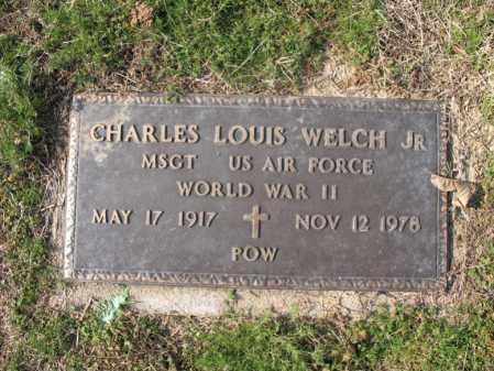 WELCH, JR (VETERAN WWII, POW), CHARLES LOUIS - Cross County, Arkansas   CHARLES LOUIS WELCH, JR (VETERAN WWII, POW) - Arkansas Gravestone Photos
