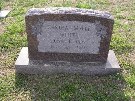 WHITE, GERTHA MABLE - Cross County, Arkansas | GERTHA MABLE WHITE - Arkansas Gravestone Photos