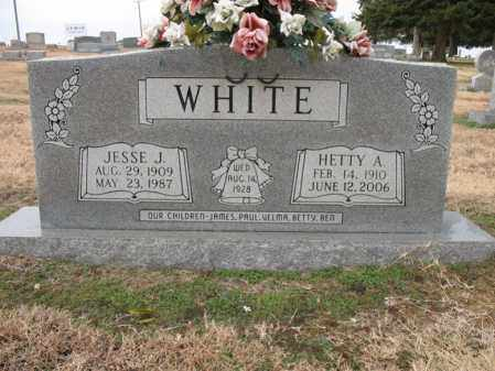 WHITE, HETTY A - Cross County, Arkansas   HETTY A WHITE - Arkansas Gravestone Photos